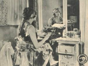 Barbara+at+typewriter