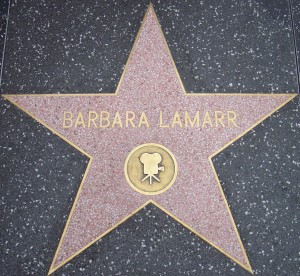 Barbara's star on the Walk of Fame, located at 1621 Vine Street (near the intersection of Hollywood Blvd. and Vine) in Hollywood.