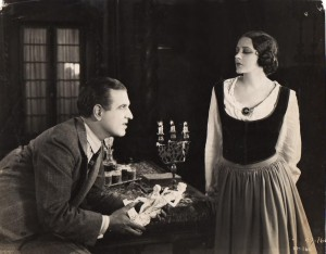 Hellbent on completing The Girl From Montmartre and never one to let her colleagues down, Barbara declined the production team's offer to postpone filming for the sake of her health. (She is seen here with Robert Ellis, her villainous suitor in the film.)