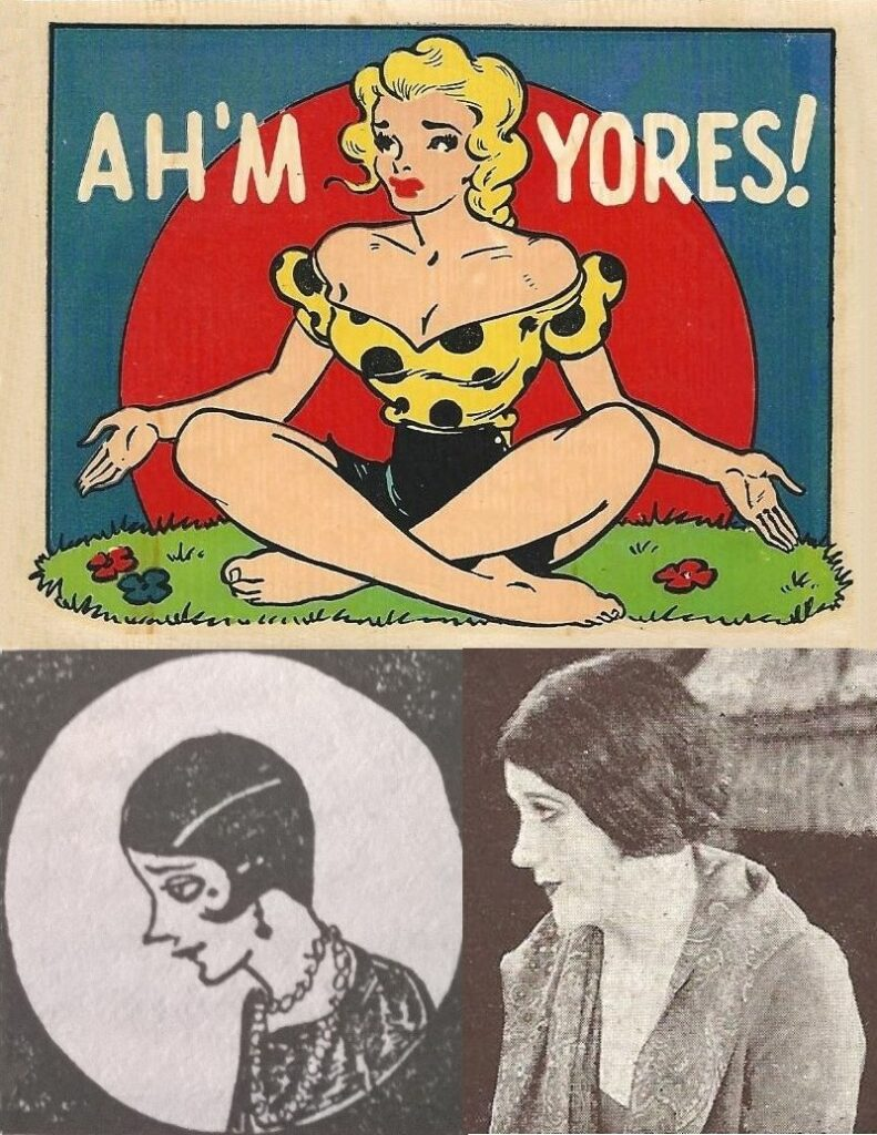 Photo collage: Daisy Mae (top), Lotta Talent (lower left), and Barbara (lower right)